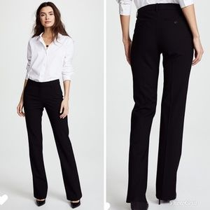 Theory Black Stretch Wool Dress Pants